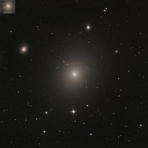 M87 elliptical galaxy with jet in Virgo