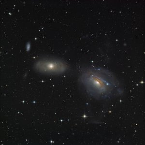 NGC3166/3169 interacting galaxies in Sextans