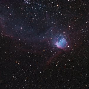 NGC602 Cluster and Nebula in SMC